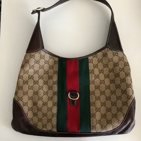 d324e08d Gucci Bags | Jackie O Web Gg Hobo Brown Canvas Bag | Poshmark